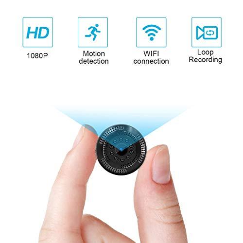 Caméra Cachée sans Fil 1080P HD Mini Caméra Espion WiFi avec...