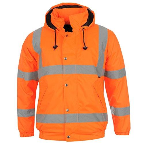 Dunlop, Warnschutz-Bomberjacke mit hoher Sichtbarkeit für Herren, Jacke mit Reflexstreifen Gr. Medium, Orange