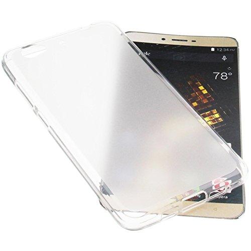 foto-kontor Tasche für Blu Vivo 5 Gummi TPU Schutz Handytasche transparent weiß