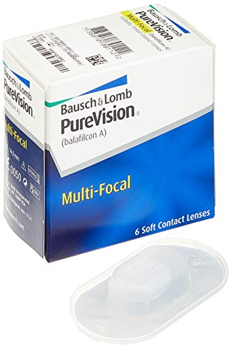 Purevision Multifocal Monatslinsen weich, 6 Stück BC 8.6 mm / DIA 14 / -2 Dioptrien / ADD High