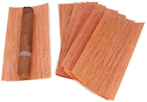 NTWXY Darkfire Spanish Cedar Cigar Spills, Cigar Companion Spanish Cedar Lumber Veneer,Fits All Types of Humidors Jar Cigar Accessories for Tray Jar and Box