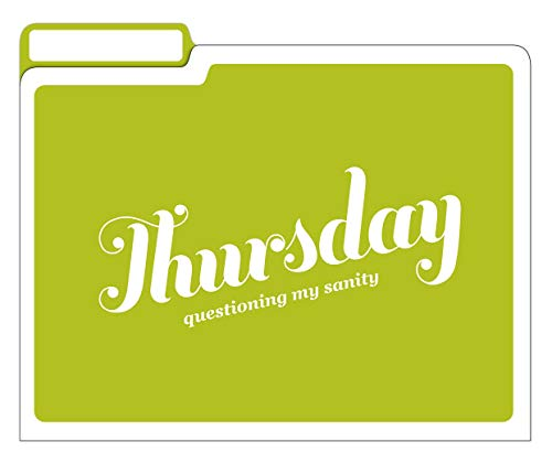 Knock Knock Days of the Week File Folders Set, Daily / Weekly Organizer Files (Set of 6, 11.5 x 9-inches) Photo #5