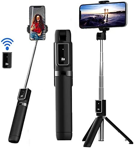 Selfie Stick Tripod Extendable Bluetooth Selfie Stick with Detachable Wireless Remote and Tripod product image