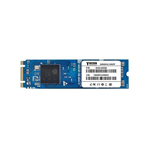 YUCUN M.2 NGFF 2280 Disco Duro sólido Interno de Estado sólido 256GB SSD Leer 540MB/S Escribir 520MB/S