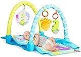DREAMADE Tappeto da Gioco per Neonati con Tema Mare,Palestrina da Gioco per Neonati con Giocattoli Appesi e Tunnel di Scorrimento