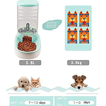 XingCheng-Sport Distributeur Automatique de Nourriture pour Animaux domestiques Petits et Moyens Animaux Distributeur Automatique de Nourriture et Abreuvoir 3.8L