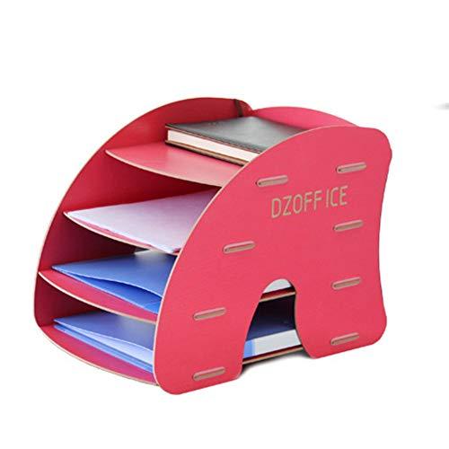 Z-SEAT 4 Niveaux détachable Grain en Bois Conception Bureau A4 fichier Lettre Plateau de Rangement Armoire de Bureau boîte Cas Bureau Organisateur étagère Rack