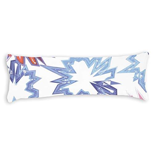 Funda de almohada corporal de algodón de 180 cm con cremallera, diseño de teñido anudado, funda de almohada decorativa floral para cama para niños para adultos y niñas