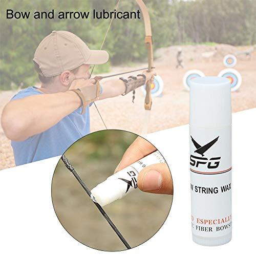 DEQUATE 3X Bowstring Wax/Rail Lube Armbrust - Sehnenwachs Für Armbrust Und Bogen Und Pistolenarmbrust - Weiß