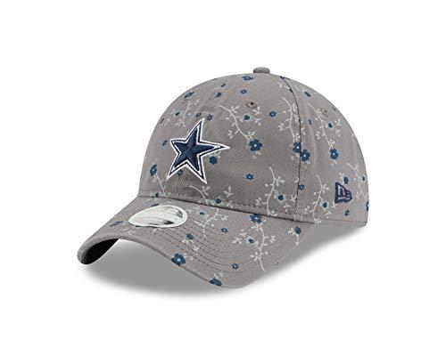 NFL Dallas Cowboys Womens New Era 2020 Blossom B3 920 Hat, Gray, OSFM