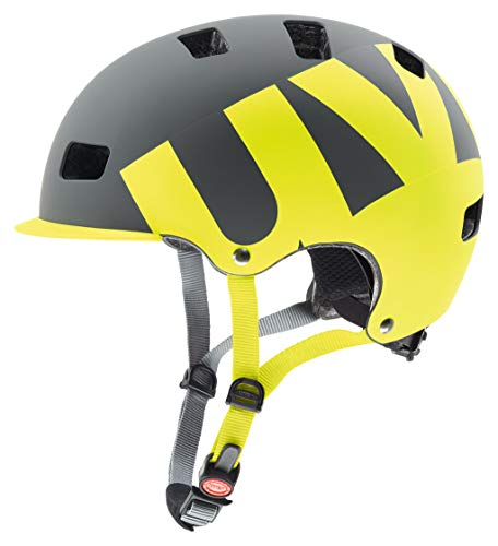 Uvex HLMT 5 Bike - Casco de Ciclismo Unisex, Color Gris/Lima Mate, Talla 55-58