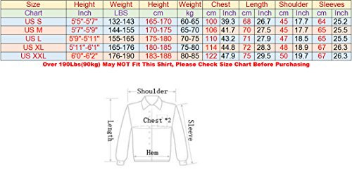 Jeansian Men's Slim Fit Long Sleeves Casual Shirts Z030 Black S