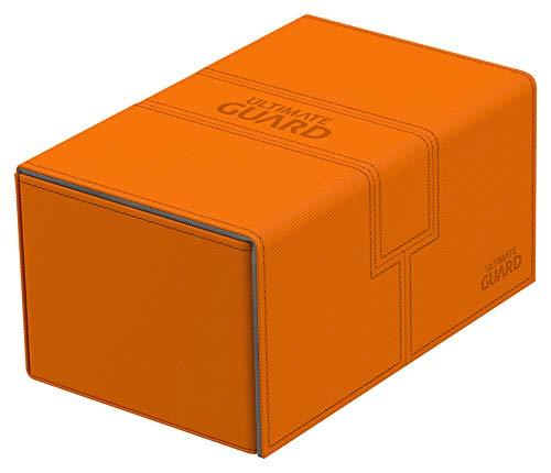 Ultimate Guard UGD10778 - Caja Doble para Cubiertas (160 Unidades, Incluye Juego de Tarjetas de xenoskin, Color Naranja, tamaño estándar)