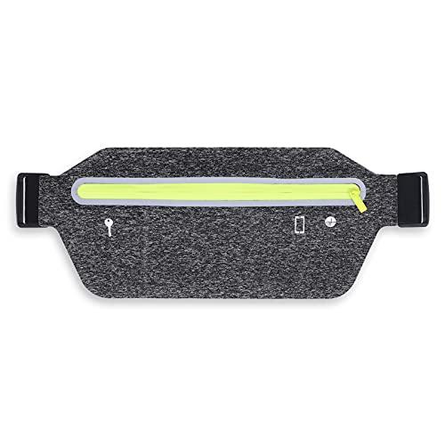 HNYG Handy laufgürtel, wasserdichte Sport Hüfttasche, Damen Lauftasche, ultraleichte Hüfttasche mit Kopfhörerloch, geeignet für iPhone XS und Huawei P30-Laufgurt, Bauchtasche zum geeignet zum Joggen