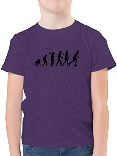 Evolution Kind - Inliner Evolution - 164 (14/15 Jahre) - Lila Meliert - Kurzarm - F130K - Kinder Tshirts und T-Shirt für Jungen