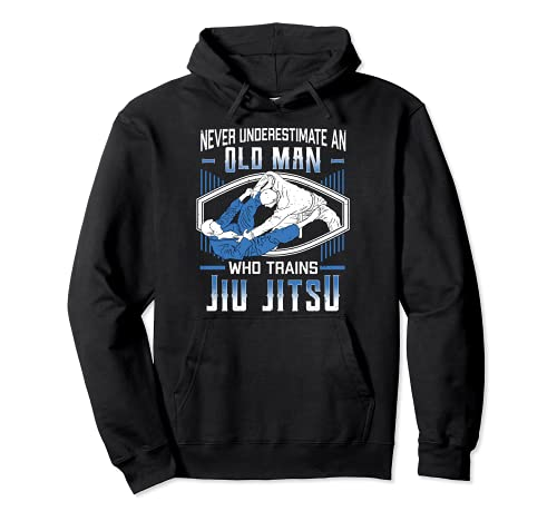 Nunca subestimar a un anciano Jiu Jitsu Artes Marciales Sudadera con Capucha