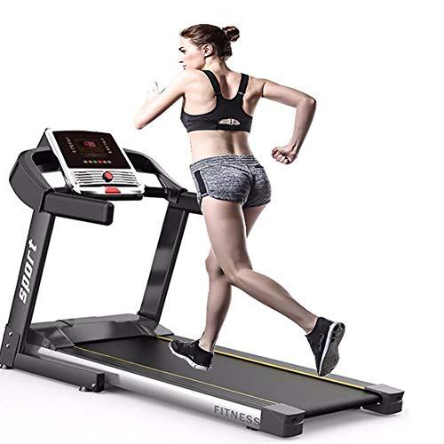 JJGS Elektrische loopband, compact, inklapbaar, tafelband, 1100 W motor, maximale belastbaarheid 120 kg, elektrisch platform 105 x 40 cm, snelheidsinstelling 1-12 km/u, perfecte fitnessapparaten