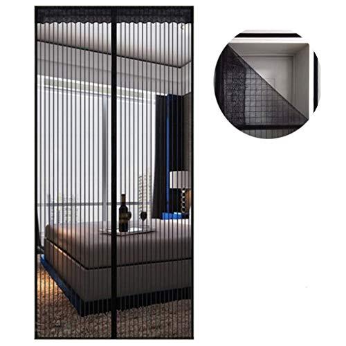 Fliegengitter Tür Insektenschutz 90x220 cm, Magnet Vorhang Fliegenvorhang Moskitonetz für Balkontür Wohnzimmer Terrassentür, Klebmontage ohne Bohren