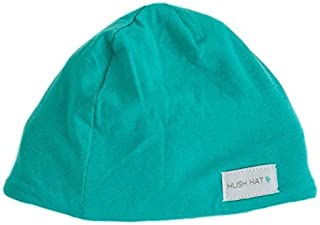 Hush Baby Hat with Softsound Technology and Medical Grade Sound Absorbing Foam, Topaz Mint Green/Large