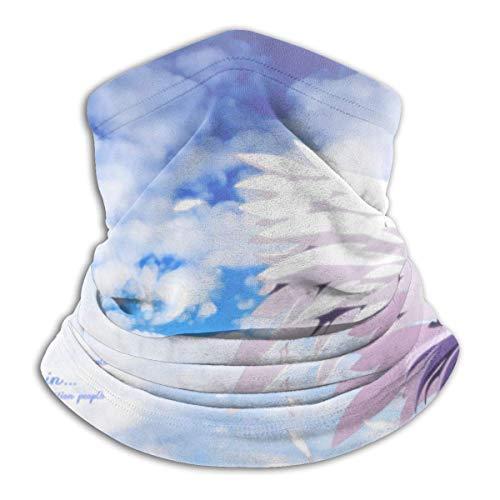 JINZUO Angel Beats Kanade Tachibana calentador de cuello de forro polar, resistente al viento, polaina para el cuello, para el frío, para hombres y mujeres