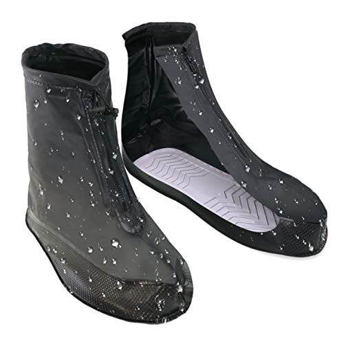 VXAR Rain ShoeCover Waterproof Overshoe Black1 2XL