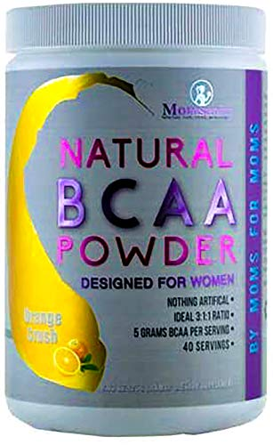 BCAA Powder Preworkout for Women - BCAA Amino Sweetened Naturally with Stevia, Erythritol, & Monk Fruit - 40 Servings + Free Delicious Recipe Guide PDF (Orange Crush)