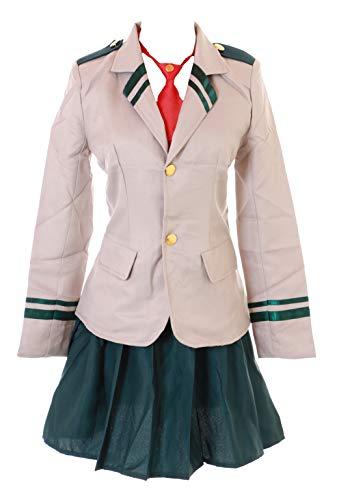 Kawaii-Story MN-96 Boku No My Hero Academia Schuluniform Tusyu Ochako Uraraka Fasching Kostüm Set Manga Anime Cosplay (XXL)