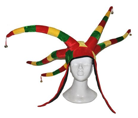 Funny Fashion Red Yellow Green - Mütze Harlekin rot/gelb/grün