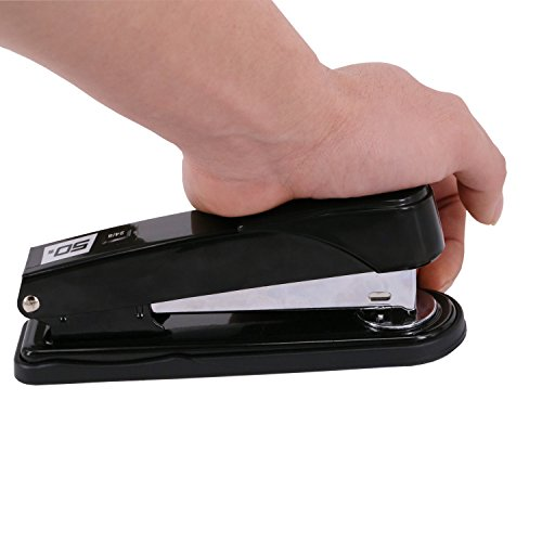 EWO'S New stapler with staples, long arm stapler with 1000 staples 50 sheets print papers-black Photo #5