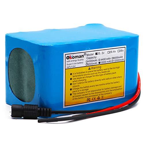 All-Purpose Batería de Iones de Litio de Bicicleta eléctrica de 24v 12ah Paquete de batería Motor de Silla de Ruedas BMS,24v 10Ah