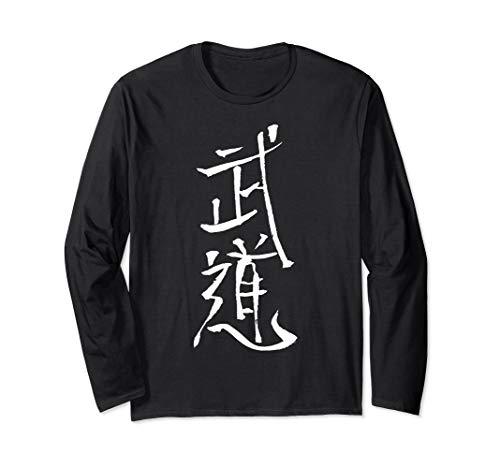 BUDO auf Japanisch ( Kanji) Langarmshirt