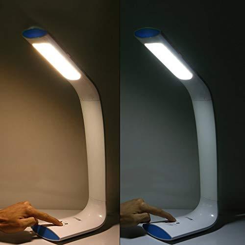 WEI-LUONG Lámparas de mesa, personalidad simple dormitorio de noche lámpara de lectura, regulable Plug en un trabajo de mesa Luces oficina de la manera llevada creativa de los ojos lámpara de estudio,