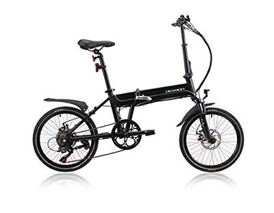 Devron 20201 E-Bike Faltrad, Faltbares Elektrofahrrad mit 36V, 7.8Ah Motor, Shimano-Teile, Schwarz