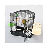 巣箱/鳥かご ポータブル鳥トラベルケージペットハウス大きな金属バードケージオウムケージカナリアケージ ペットケージ/鳥かご (Color : B)