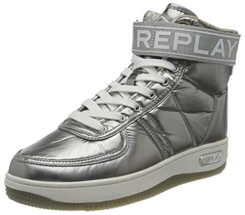 Replay Endurance, Zapatillas Mujer, Plateado 023 Dk Silv, 38 Eu