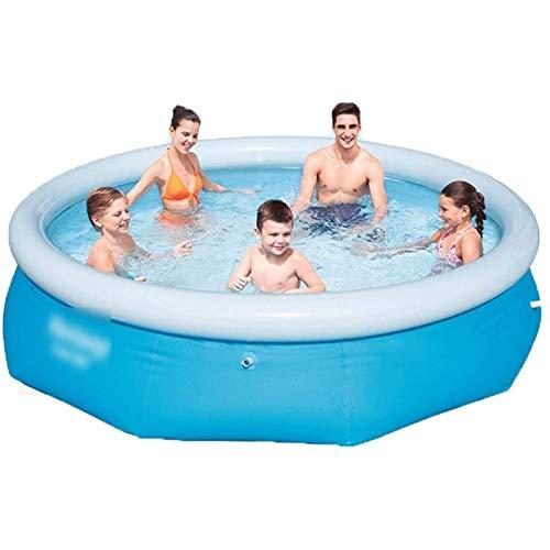 Qazxsw Piscina Inflable/Reservorio para el hogar/Piscina para niños/Adulto Gran Piscina Inflable de la Familia Inflable/de Aumento y Engrosamiento de Juguetes al Aire Libre para niños,Azul,244 * 66cm