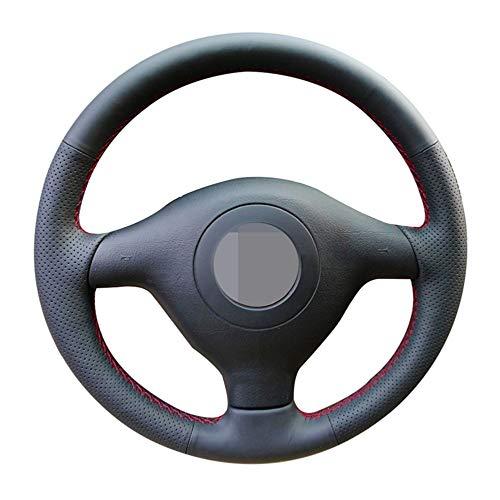 CYBHR Accesorios para el automóvil Hechos a Mano Cubierta del Volante del Coche, para Volkswagen VW Golf 4 Passat B5 1996-2003 Seat Leon 1999-2004 Polo 1999-2002