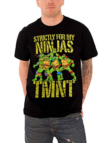 Officially Licensed Merchandise TMNT - Strictly For My Ninjas T-Shirt (Black), Large