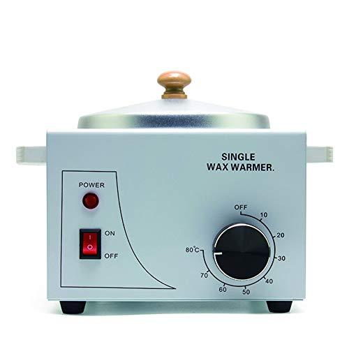 Wachswärmer mit Rotating Thermostat Einzeltopf Metall Elektro-Epilation Haarentfernung Schmelzwachstopf Heizung für Berufssalon