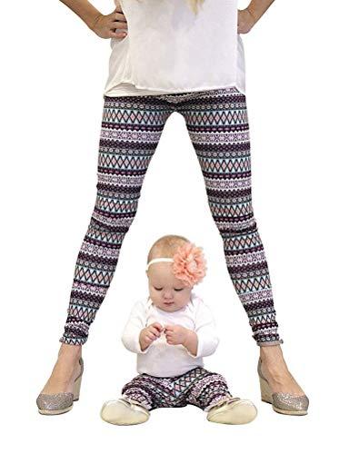 Familia Rope Mamá Navidad Impresión E Vintage Elegantes Hija Leggins Elásticos Skinny Casual Festivo Cómodo Largo Pantalon Familias Mujeres Niños Familias Mujeres Niños ( Color : Rosy , Size : M )