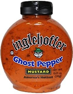 Inglehoffer Ghost Pepper Mustard, 10.25 Ounce Squeeze Bottle (Pack of 6)
