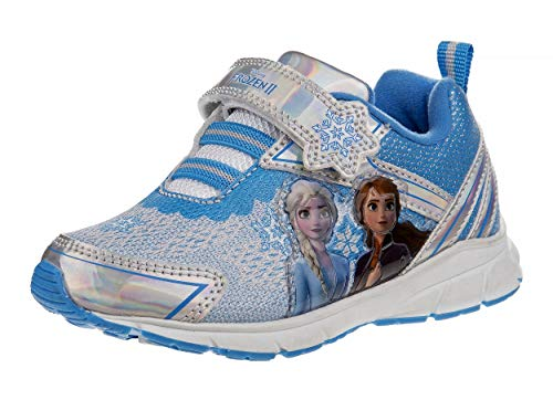 Disney Frozen II Elsa and Anna Seakers - Anna and Elsa, Blue, Size 8 Toddler