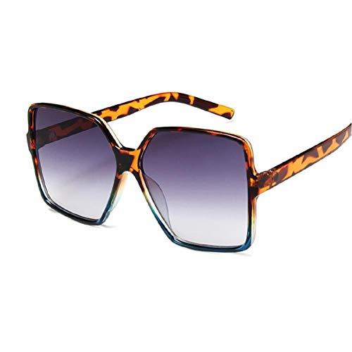 LUXONE Gafas de Sol cuadradas de Gran tamaño. Montura Grande Femenina. Gafas de Sol Coloridas. Gafas de Sol Hip-Hop Unisex