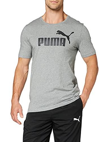 PUMA Essentials Logo Tee M, Maglietta Uomo, Grigio (Grey Heather), L