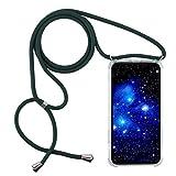 1stfee Compatible con Funda para Y6S2019/Honor8APro/Honor8A Funda para teléfono móvil con cordón Transparente TPU Diseño de Protección Anti-Shock Cover