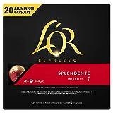L'Or Espresso Café - 200 Capsules Splendente Intensité 7 - compatibles Nespresso®* (lot de 10 x 20)