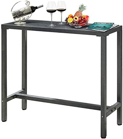 Mr IRONSTONE Outdoor Bar Table 46 5 Pub Height Dining Table Bistro Patio Table with Waterproof product image