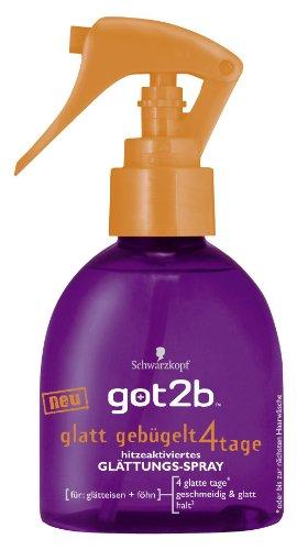 Schwarzkopf got2b glatt gebügelt 4 Tage Glättungs-Spray, 200 ml