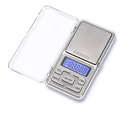 WOWOHE Digital Pocket Scales Gram Food Scale Capacity 500g Kitchen Portable Scale Small Mini Cooking Scale Digital Weight Grams Accuracy 0.01g