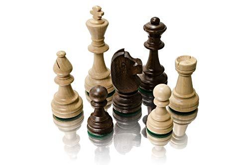 Master of Chess Professional Staunton n. ° 6,  Piezas de ajedrez de Madera ponderadas en Elegante Caja,  Figuras de ajedrez de Torneo,  Rey 98 mm
